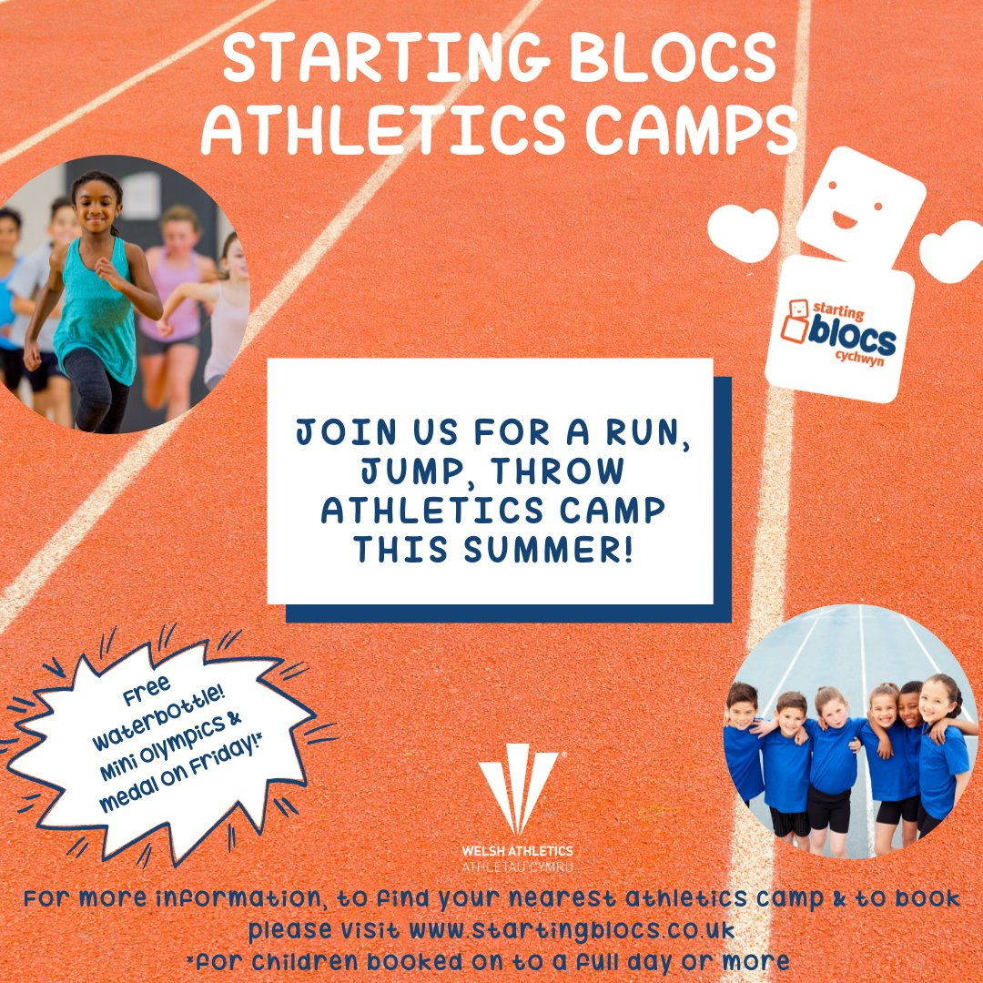 Still time to sign up to our camp! We'd love you to join us, head to https://t.co/sRgJSGzvqN to book on today 🙌 @AYPPenarth @LlandoughSchool @StCyresLets  @valeplayteam @ValeSportsTeam #schoolholidays #FunJumpThrow #athletics #fundamentals https://t.co/SWLfsWllbo