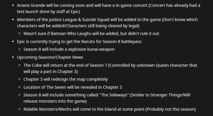 Fortnite Season 8 Supposed Leaks