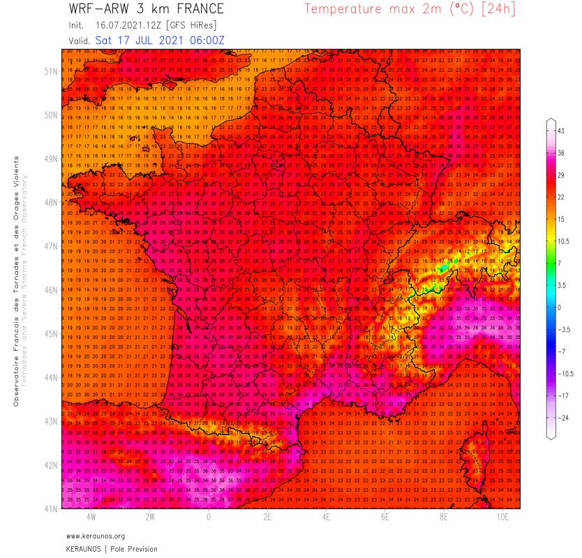 La goutte froide de cette semaine va totalement s'évacuer demain samedi, laissant place à des conditions chaudes et estivales. Il fera chaud dans l'ouest, surtout dimanche avec plus de 30°C. Pointes à plus de 35°C possibles dans le sud-est.