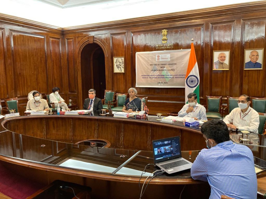 वित्त मंत्री निर्मला सीतारमण ने अमेरिका-भारत व्यापार परिषद (USIBC) के वर्चुअल गोलमेज सम्मेलन को संबोधित किया