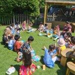 Image for the Tweet beginning: Nursery's first school lunch!