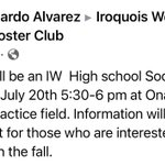 Image for the Tweet beginning: Soccer meeting! ⚽️ 🥅 #iwhsraiders