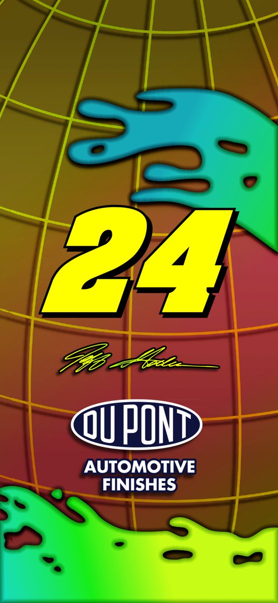 Tried my best to create a screen based off of Jeff Gordon's helmet for the 1998 #NASCAR All Star Race. https://t.co/Eh7tpw88UU