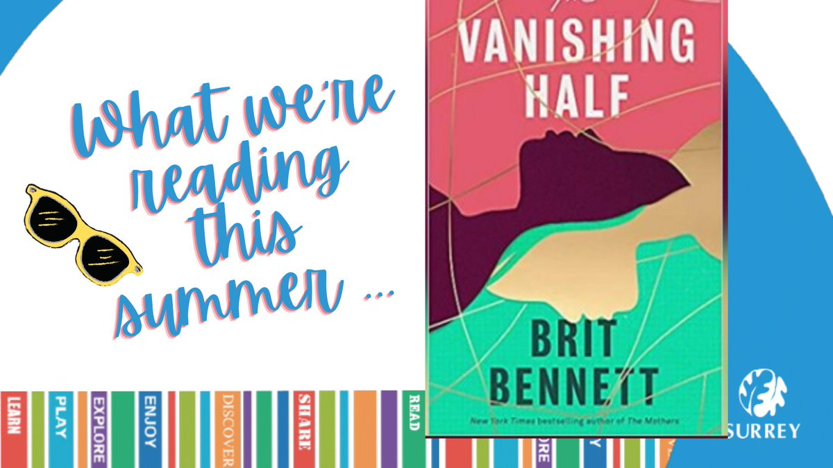 Up for the 2021 Women's Prize for Fiction and pulling in praise from the likes of @BernardineEvari and @MarianKeyes, THE VANISHING HALF by @britrbennett is sure to have you gripped! Available now @SurreyLibraries👉 https://t.co/Tv5MkPiPxN #BetweenTheCovers  #AmReading https://t.co/8u4E3Nu3RO