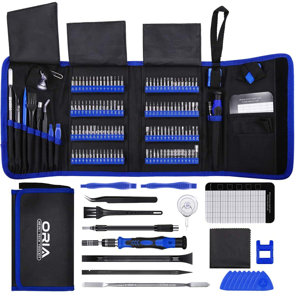 ORIA Precision Screwdriver Set (New Version), 142 in 1 with 120 Bits Mini Magnetic Screwdriver #Kit Repair Tool #Kit with Portable Bag for Electronic PC iPhone MacBook Jewelers Fathers Day Gifts  More: https://t.co/aOYp5aVCyC  #Durable #Electronics #RepairKits #SaverDeal https://t.co/O9ce45sPhm