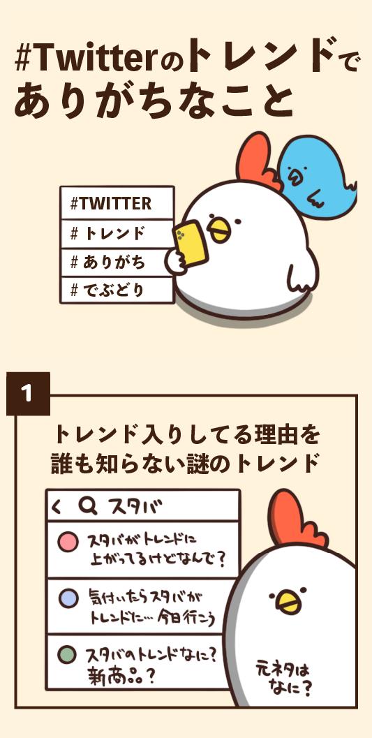 #Twitterのトレンドでありがちなこと