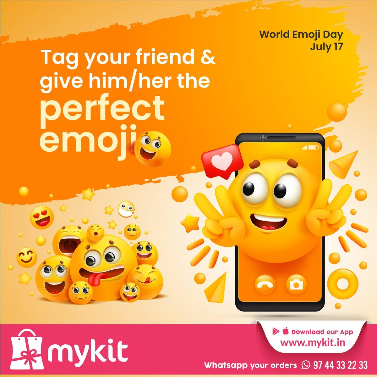 Tag your friend and give him/her the perfect emoji  World Emoji Day July 17  visit now: https://t.co/KjaLi9yPQr  #mykitcart #mykit #worldemojiday #brandyourhome #kannur #kerala https://t.co/0ng29kF8kk
