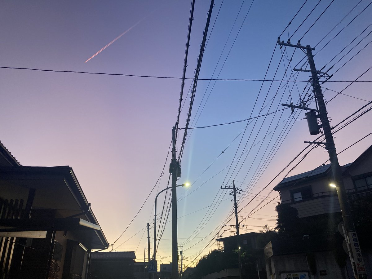 空がきれいだった