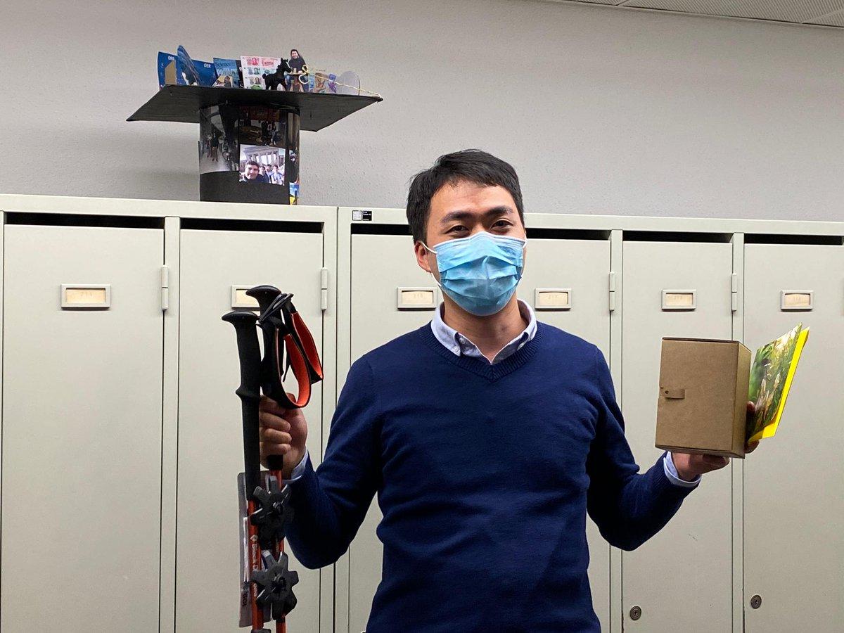Wenchao Wan after his PhD defense