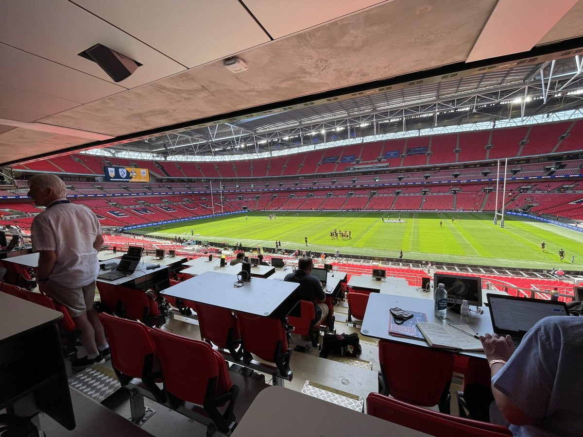 test Twitter Media - There's a packed day at @wembleystadium with @CTRLFC v @Saints1890 and @FevRoversRLFC v @YorkKnightsRLFC, @chrisdawkesITV is spending the day here for @itvcalendar, it's an amazing atmosphere here with true friendly fans mixing together https://t.co/WLAFFEJqsc