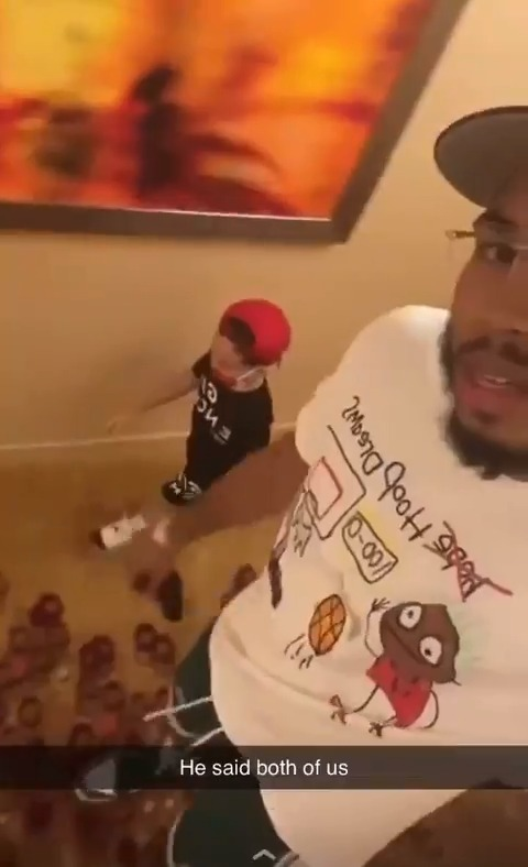 """""""Both of us dressed fresh"""" Tatum's son Deuce was feeling their fits ❤️ https://t.co/zeMzqux8qw"""