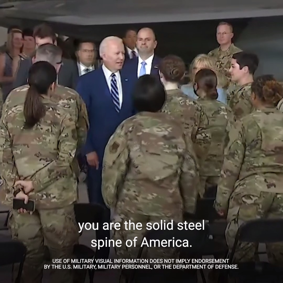 Our service members—at home and abroad—are the steel spine of America. https://t.co/djTxn46dxC