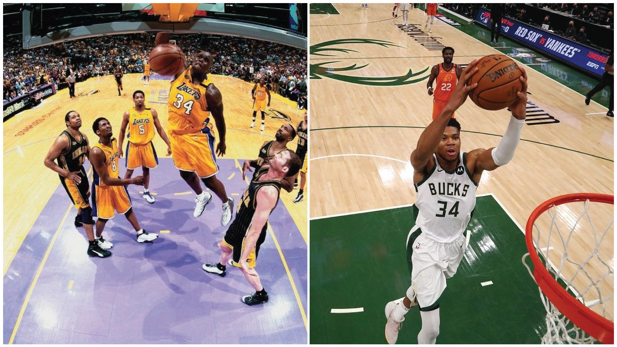 Is this good?  Giannis Antetokounmpo is the 2nd player in the shot clock era (since 1955) to average 30 PPG on 60% shooting through the first 4 games of an NBA Finals.   Shaquille O'Neal did this in the 2000 NBA Finals.