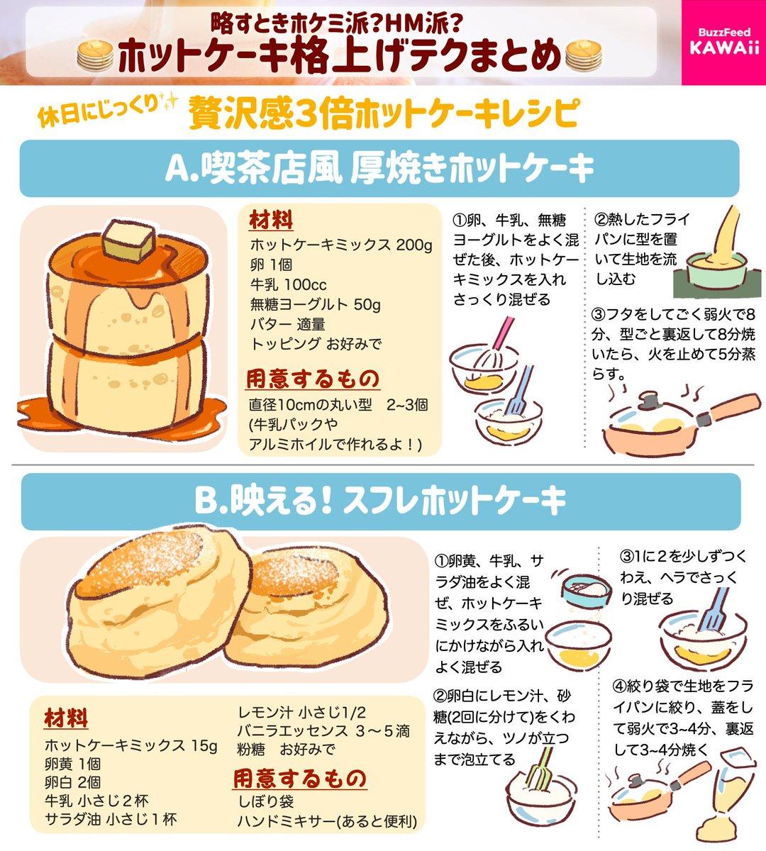 ホットケーキ好きさん必見!2種類のホットケーキレシピ&ホットケーキを美味しく作るテクニック!