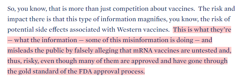 """""""[P]eople are out there giving misinformation. Anyone listening to it is getting hurt by it. It's killing people. It's bad information."""" -- Joe Biden #COVID19 #Vaccines #VaccineMisinformation"""