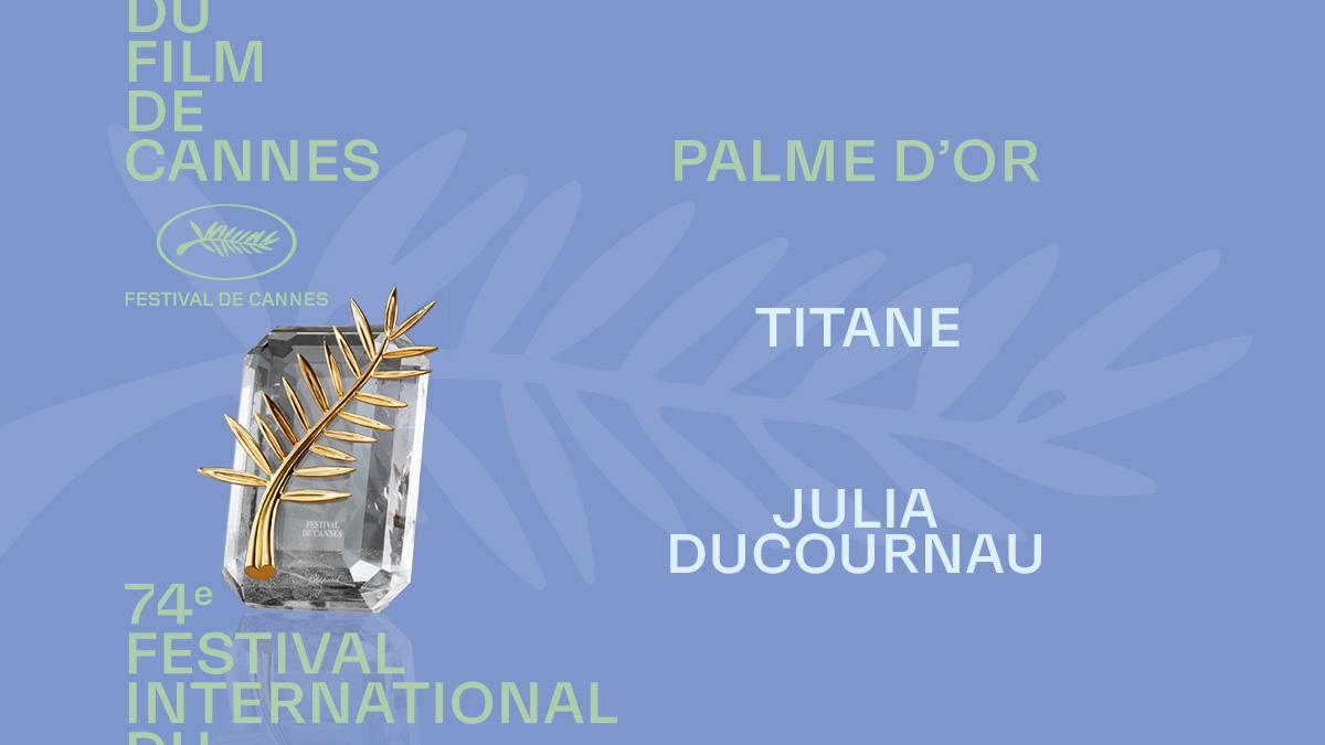"Festival de Cannes on Twitter: ""And the Palme d'or winner is Julia  DUCOURNAU for TITANE #Cannes2021 #Awards #PalmedOr #TITANE… """