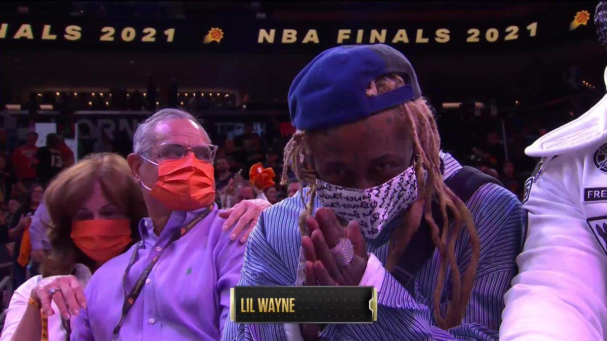 Vanessa Hudgens, Adele, Lil Wayne, Kyler Murray and LeBron James at Game 5 of the NBA Finals 🌟  (via @NBATV) https://t.co/EmToO79EQ9