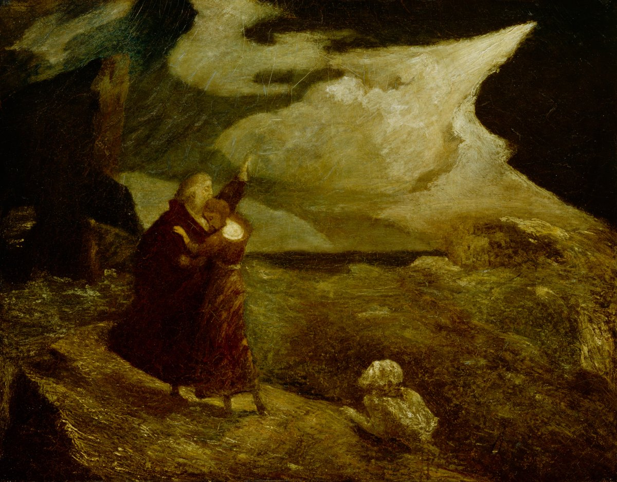 """🖼 """"The Tempest"""", 1892, Albert Pinkham Ryder, reworked between 1896 and 1918, oil on canvas, DIA no. 50.19. https://t.co/gLa59Wl1o5"""