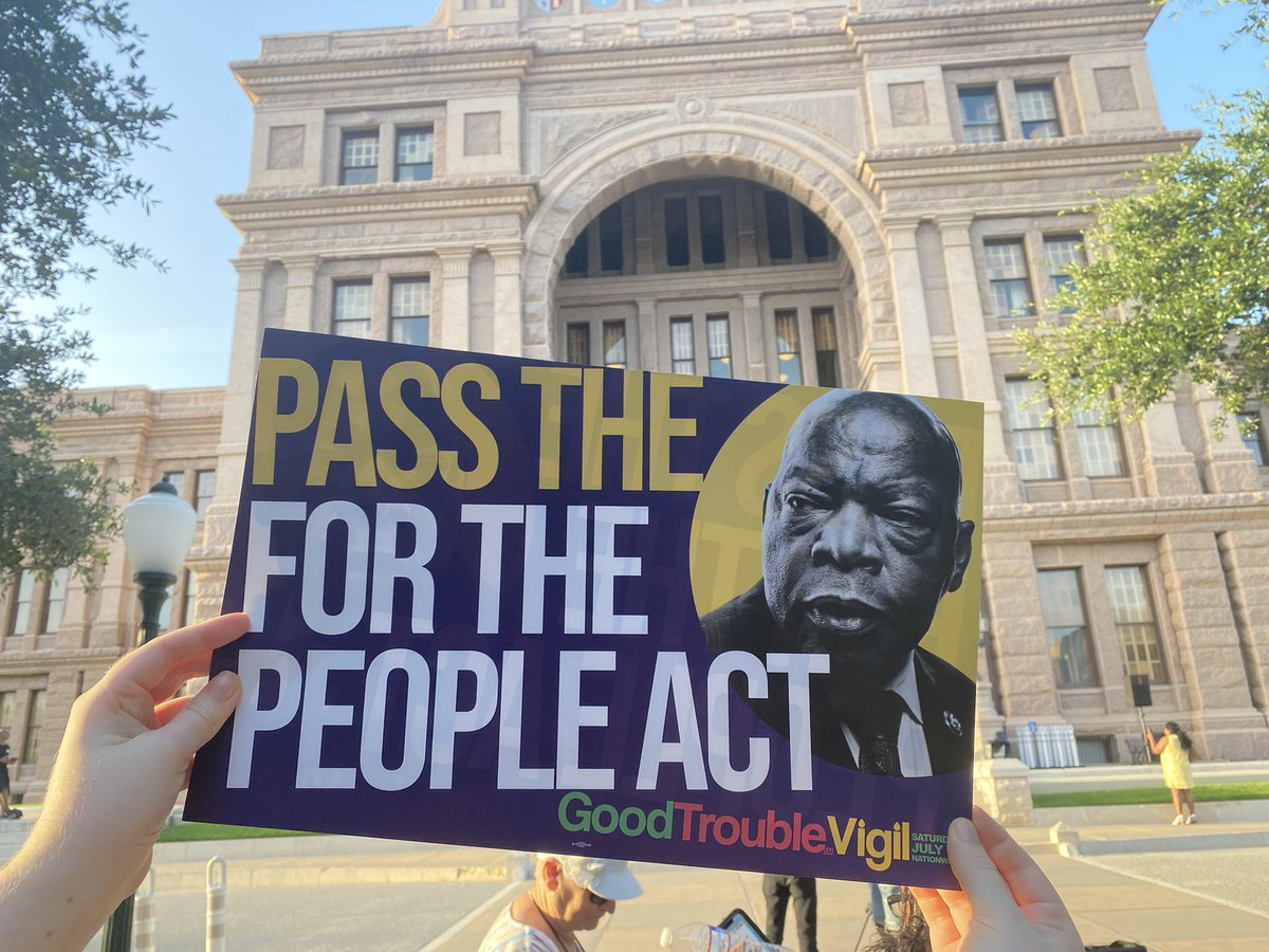 Today, we continue the fight of John Lewis. It's time to protect the right to vote and pass the For The People Act. #JohnLewis #GoodTrouble  #ForThePeopleAct https://t.co/TUQKSLgRJM