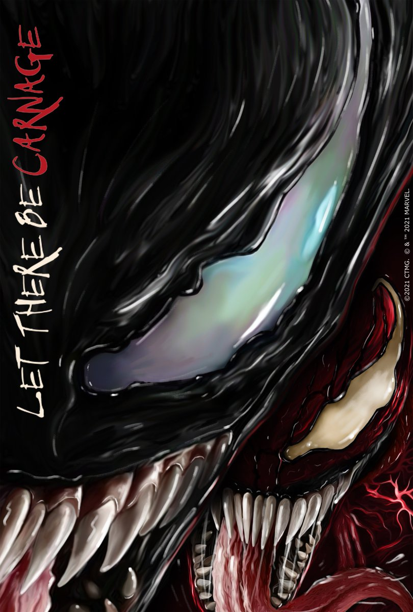 Satisfy your craving for #Venom: Let There Be Carnage with a bite of this week's #FanArt that includes two entries from India!.   Experience it exclusively in movie theaters September 2021.  @VenomMovie https://t.co/oMETXnhiDW