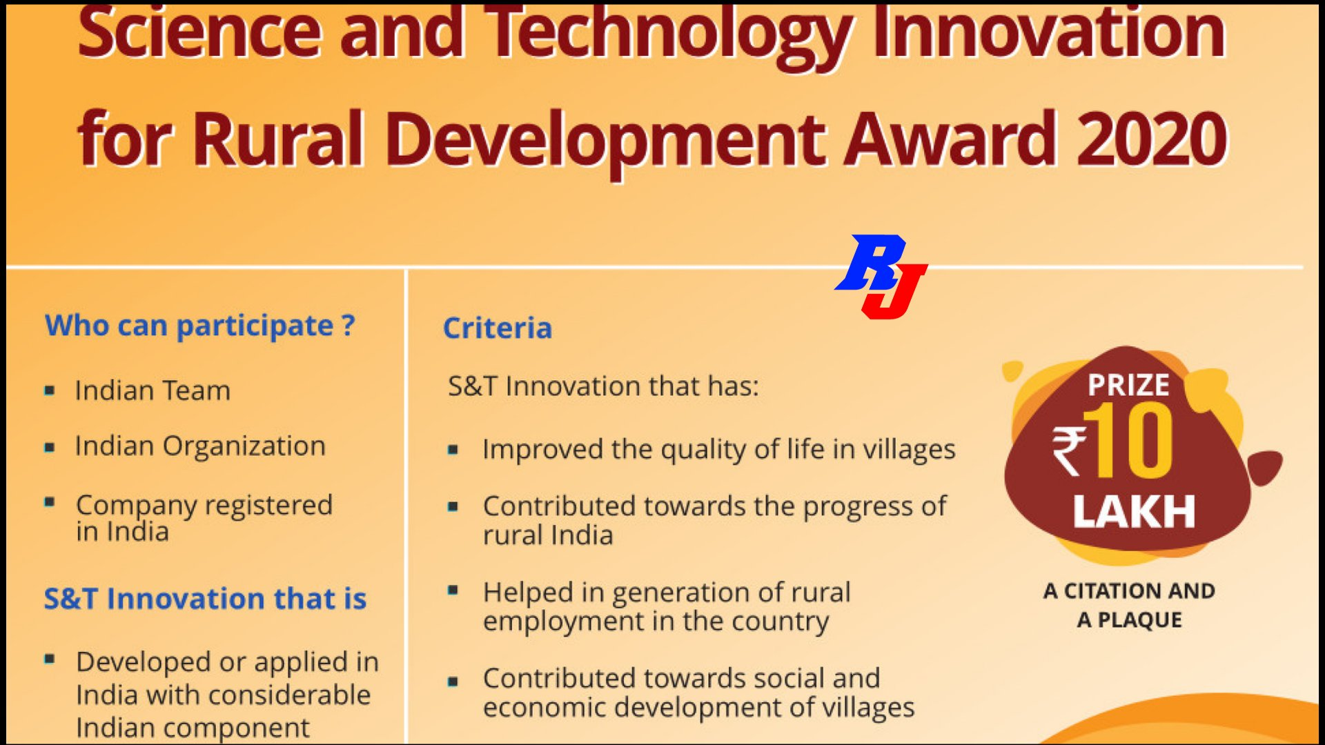 CAIRD Award: CSIR Award for S&T Innovations for Rural Development