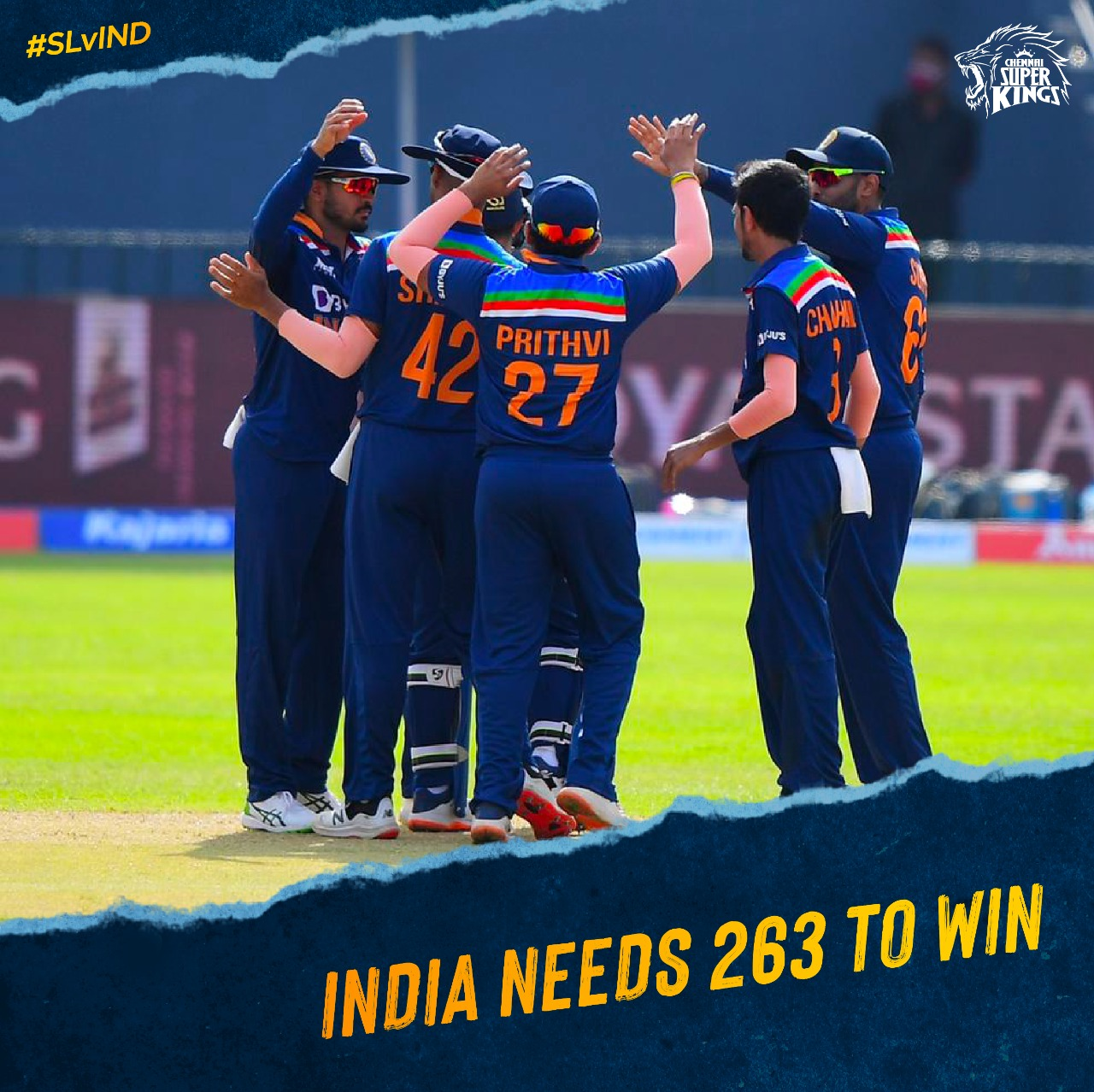 IND vs SL ODI: श्रीलंका ने भारत को जीत के लिए 263 रनों का लक्ष्य दिया