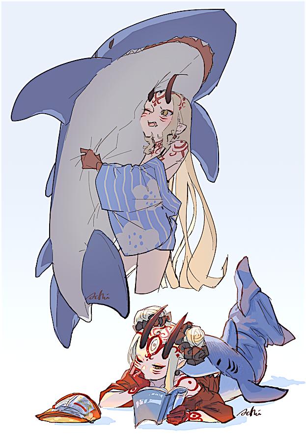"""""""サメ寝袋と推し""""でしか癒せないストレスもある"""