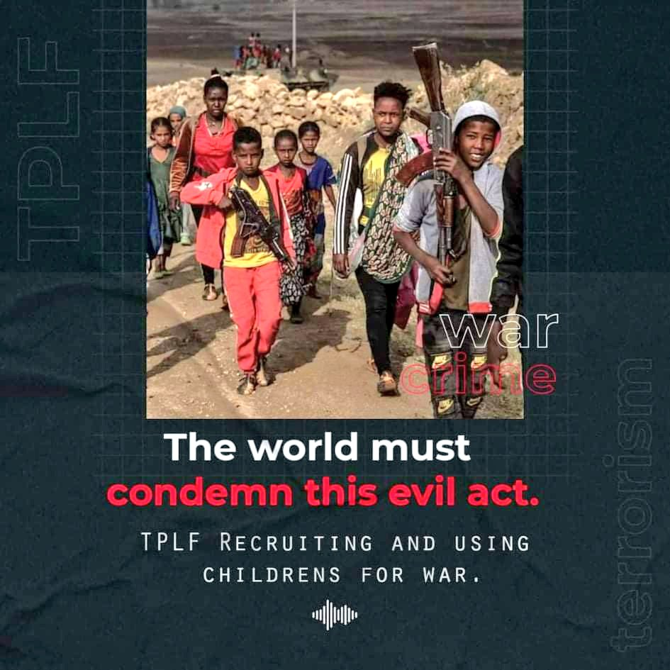 While incriminating #EthiopianGovt for every problem under the sun and moving the goalpost every 15 minutes, humanitarian agencies so far failed to condemn the use of #ChildSoldiers by #TPLFisaTerroristGroup. @AFP @washingtonpost #ChildrenNotSoldiers https://t.co/d5c76254ej