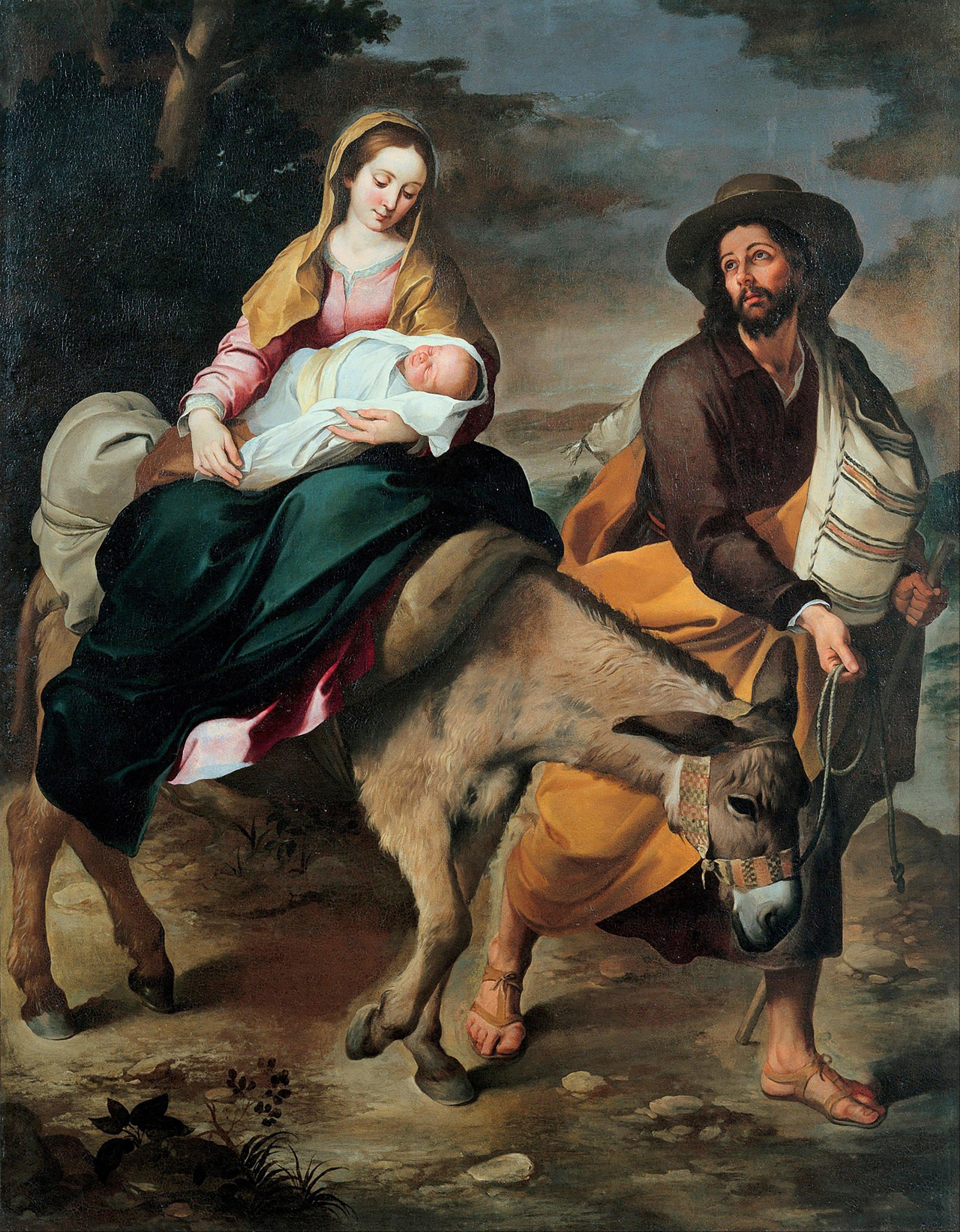 Sagrada Família de Nazaré, a fuga para o Egito