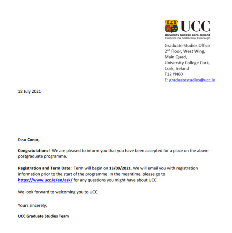 Some people take the direct route through formal education. For me, experiences with crippling depression and panic attacks as a teenager denied me that opportunity. So thrilled and excited to accept an offer from @UCC to begin a Masters in September #emotionalhealthandwellbeing https://t.co/NWGif9ee5D