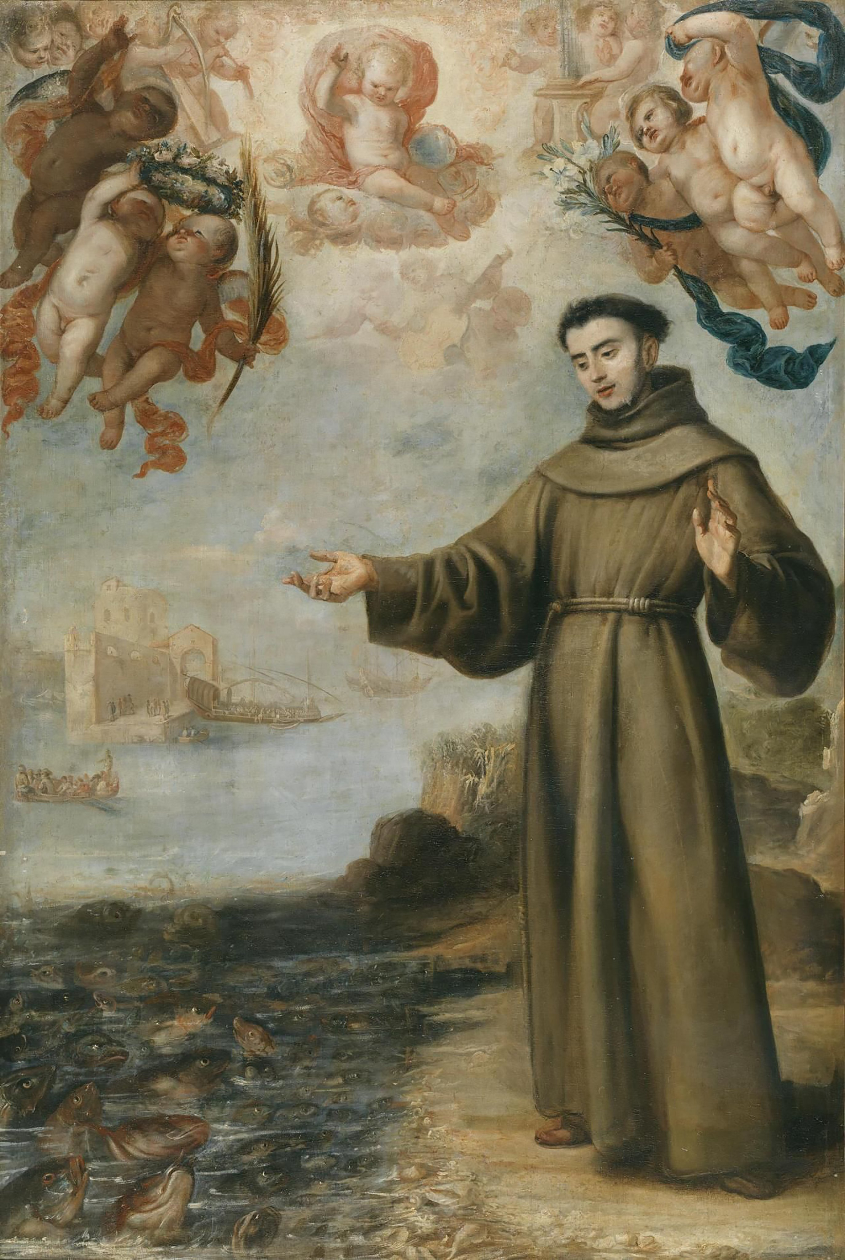 Santo Antônio pregando para os peixes