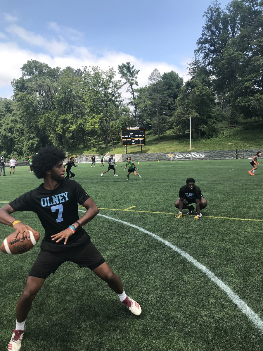 It was a great day today for the 7 on 7 football tournament at Towson University in Maryland. @PCSCA10 @AndreWalkerI @Dr_ChrisHobbs @PSADA @OfficialTHSADA @DrRLajara @OCHStrojans @PaulRieser2 @coach_ad https://t.co/OMdDencvG1