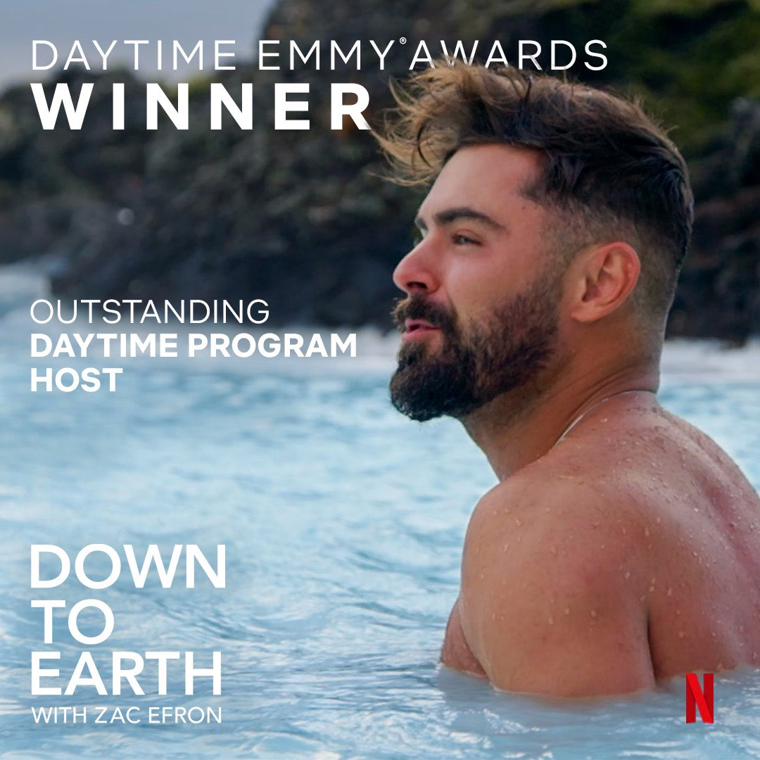 Wow! Never expected this and so grateful. A HUGE thank you to @DaytimeEmmys @netflix and our small but powerful crew, #downtoearth who made this show what it is. And most of all, thank all of you for watching and enjoying D2E. This is for you. ❤️