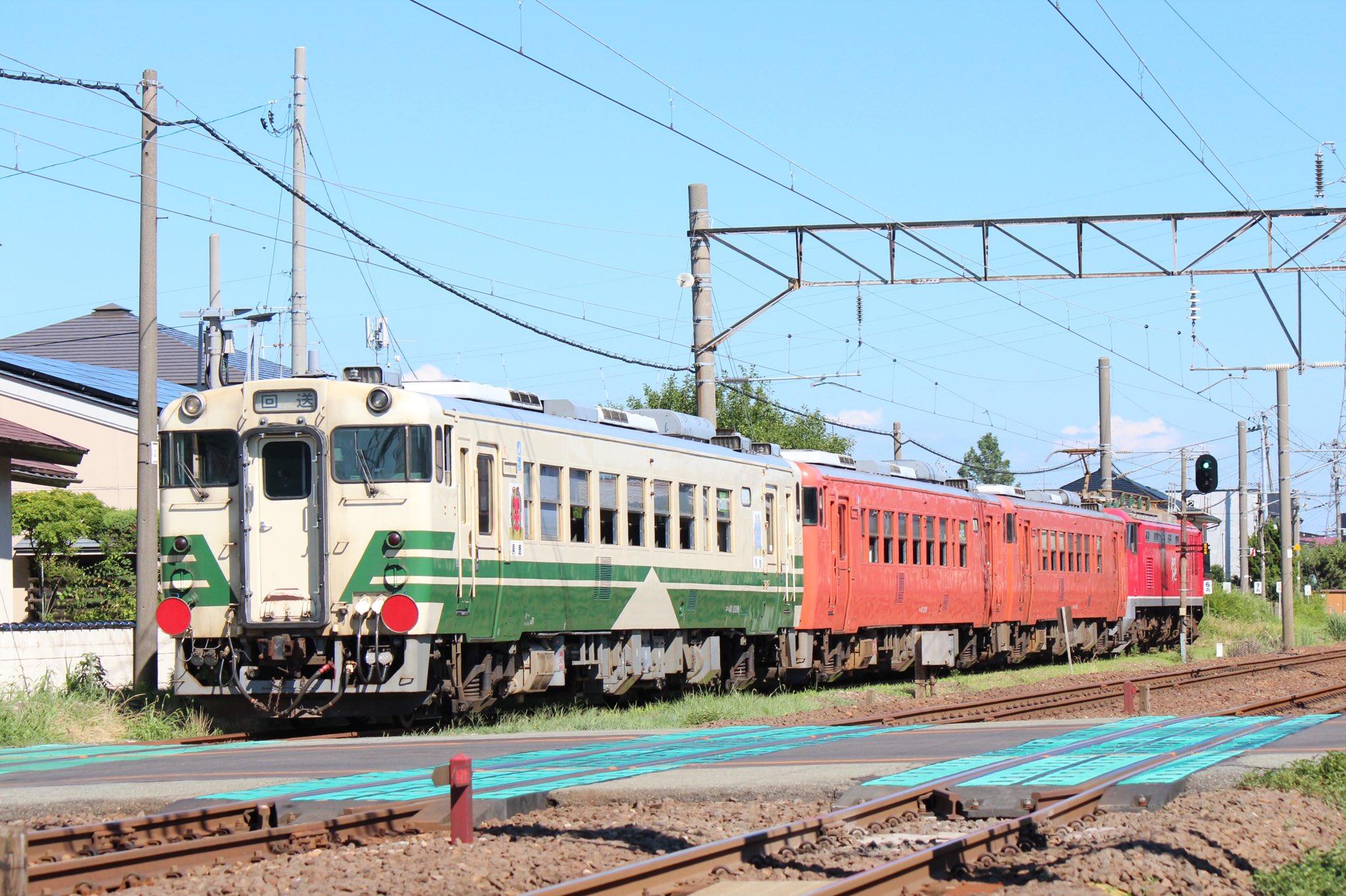 【甲種輸送】キハ40形3両小湊鉄道へ 1年2か月ぶり