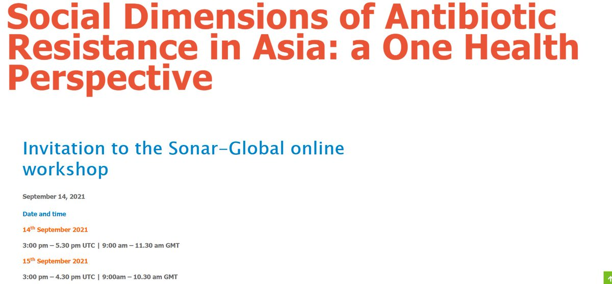 Are you a researcher working in #socialsciences #ethics, #publicengagement & #epidemiology related to #AMR in #Asia?  Join our online workshop on Sept, 14 and 15.   Info + application ▶️ https://t.co/c9wE1MVM2H