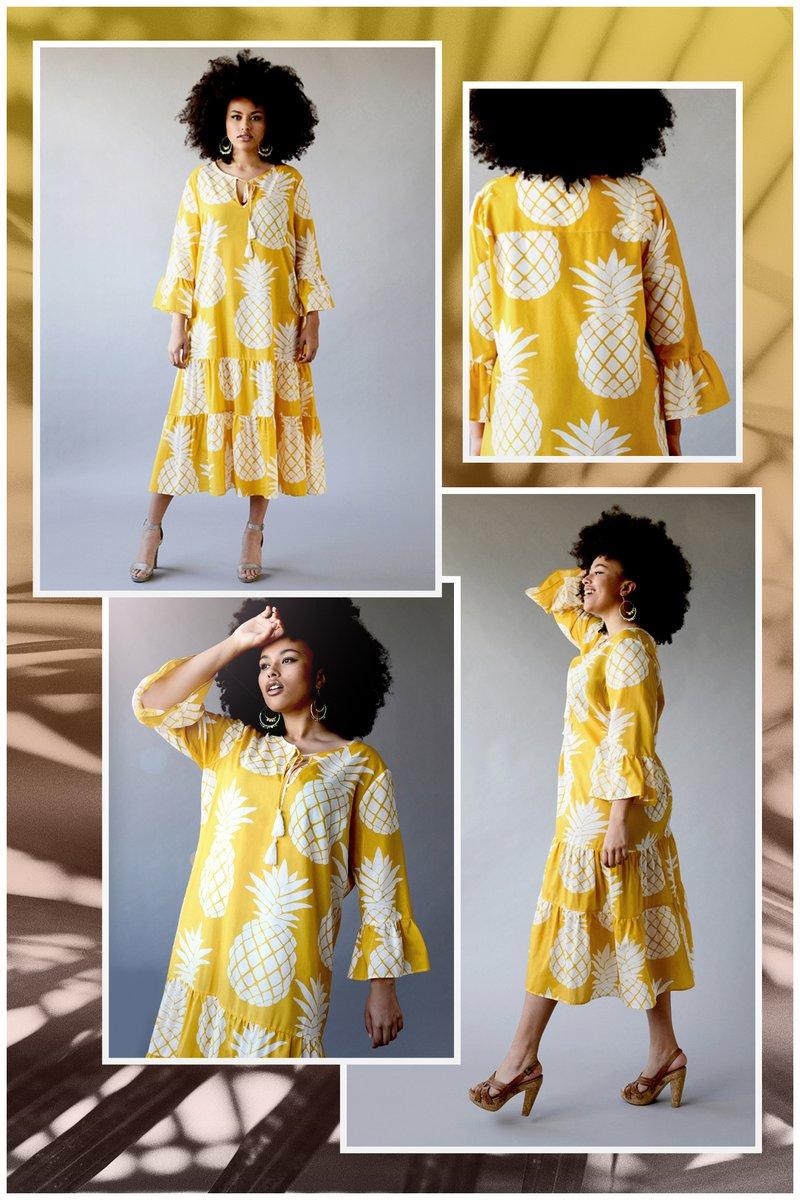 test Twitter Media - Sunshine vibes in our new yellow pineapple dress in silk cotton https://t.co/6LB84k9RkK https://t.co/Y0G8vIIduq