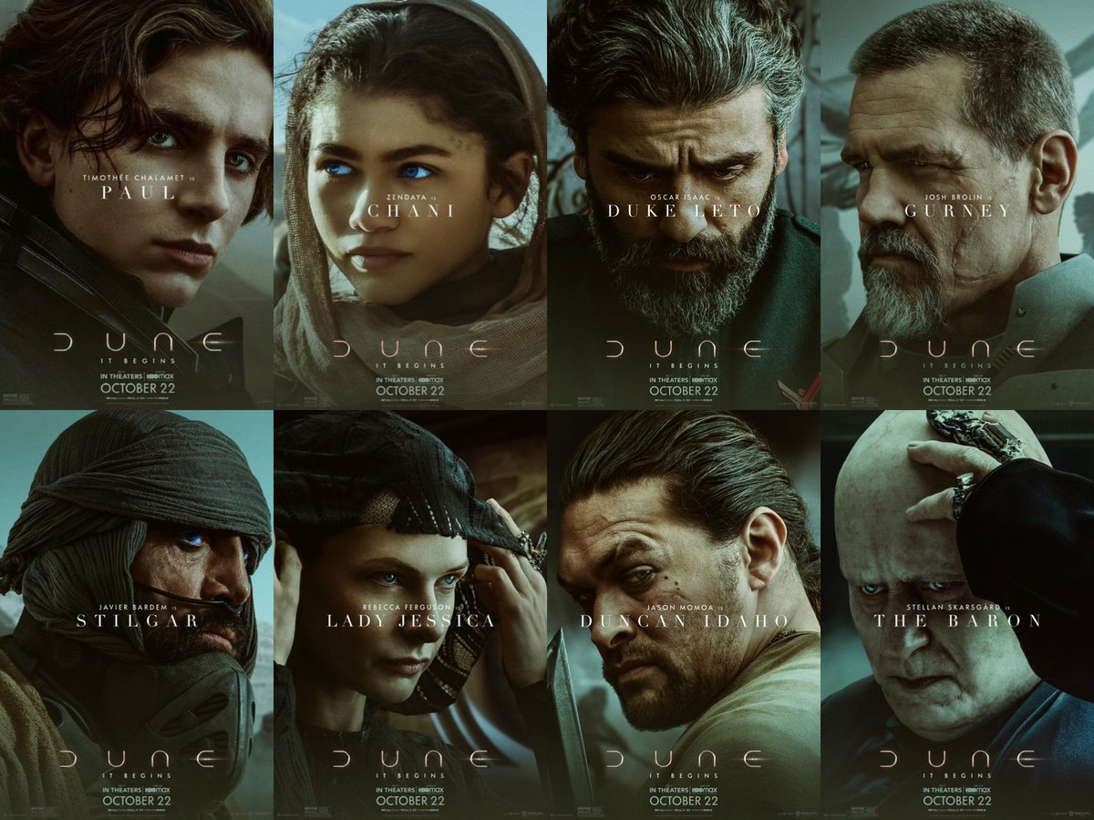 "Matt Neglia on Twitter: ""The #Dune character posters look so damn good!!… """