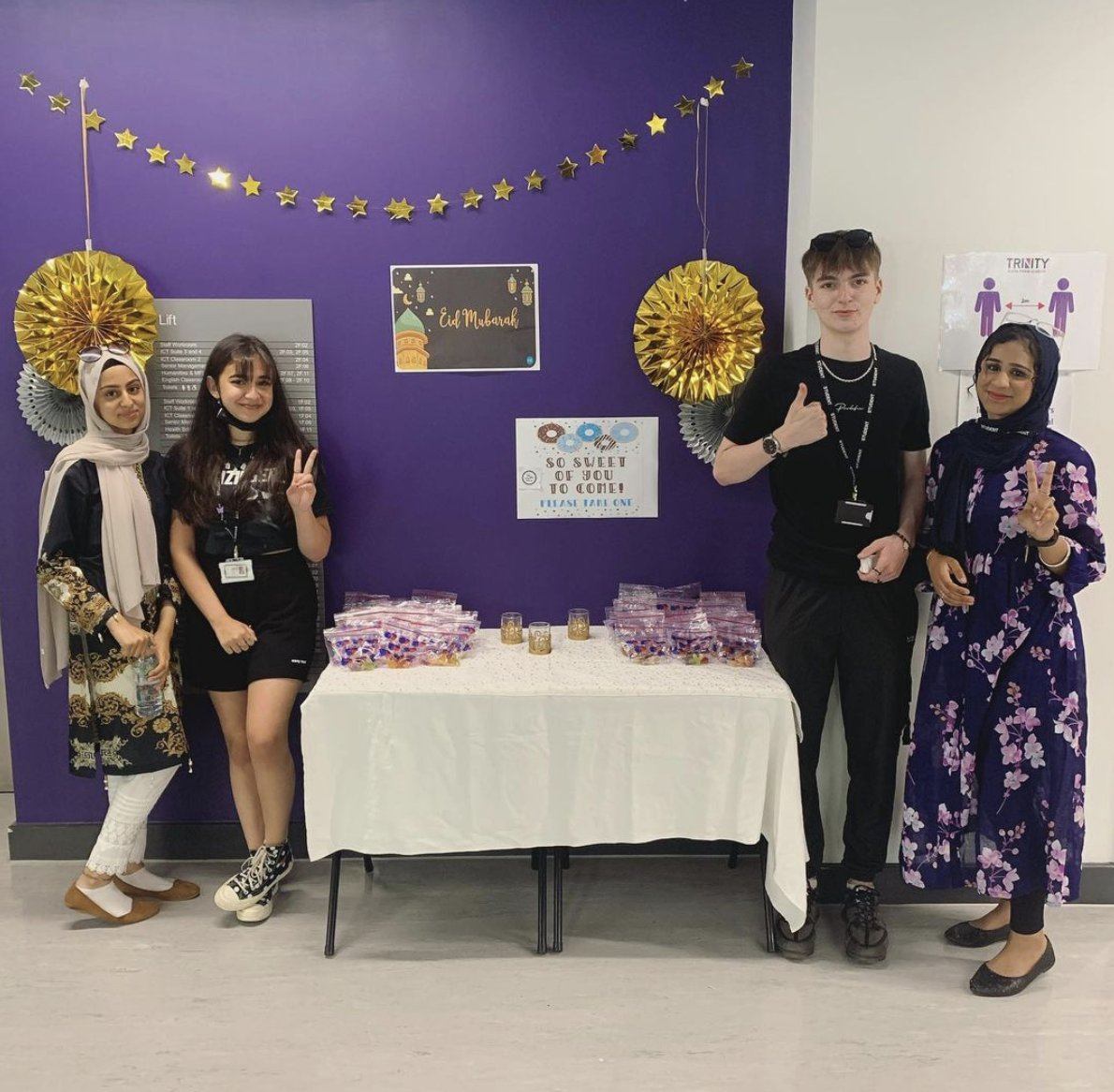🌙 EID AL-ADHA 🌙  To celebrate this festival of Islam, our Pupil Leadership Group have put together a display full of Halal sweet treats for our students to take away with them! Eid Mubarak to all of our Muslim students, staff and followers over these next days.❤️🌙 #EidMubarak