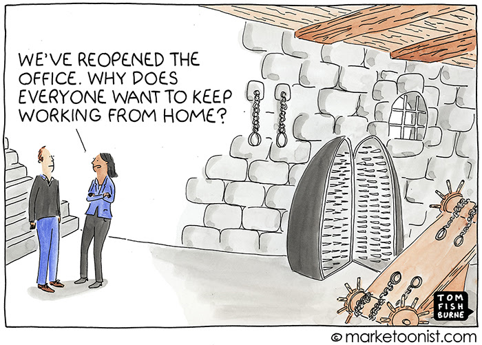 Ok a bit of an exaggeration maybe - but kind of how many see things #futureofwork