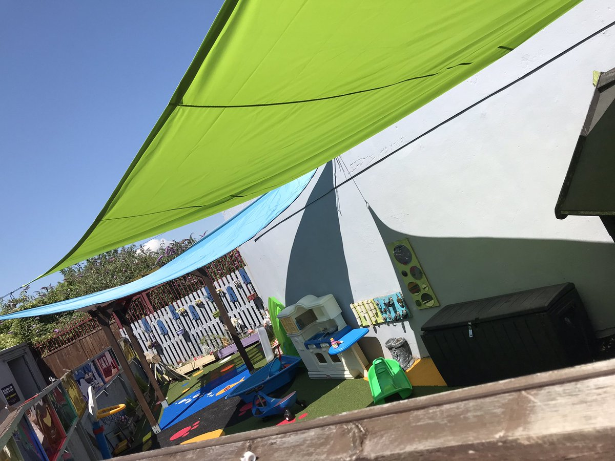 Our gorgeous sails over the sensory garden today keeping the sun off the children but allowing them to be outside during these warm days! @CommunityFound @Rethink_Ireland https://t.co/s4G3Whho4I