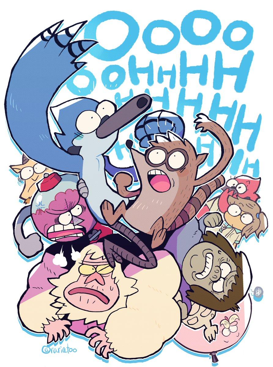 レギュラーSHOW、めっちゃ好きなアニメです Regular show… I love it so much cartoon #RegularShow