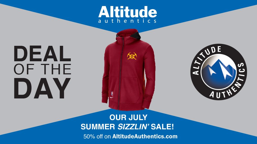 Day 22 of our Summer Sizzlin' Sale is here!  Today we have our @nuggets City Edition Full Zip Therma Flex Hoody at 50% off!  Click here to purchase ---> https://t.co/MlRYGyUgi1 https://t.co/vEoX3cbVEF