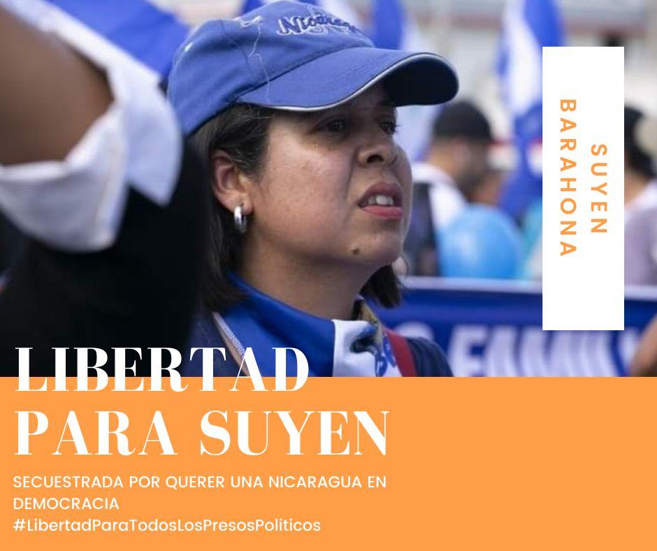 Seguimos resistiendo, por todos ustedes y #Nicaragua #LibertadParaSuyen  #LibertadParaLosPresosPoliticos