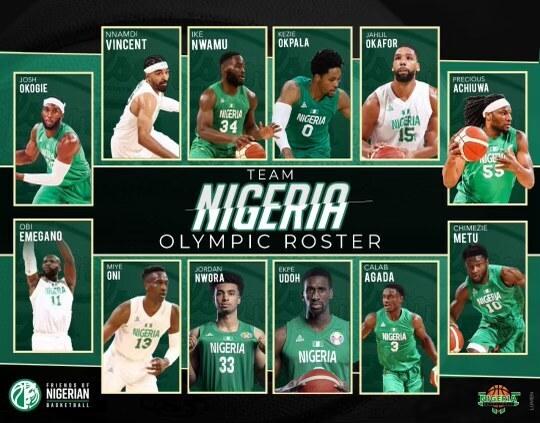 Nigeria, ufficializzati i 12 giocatori per le Olimpiadi a Tokyo 2020