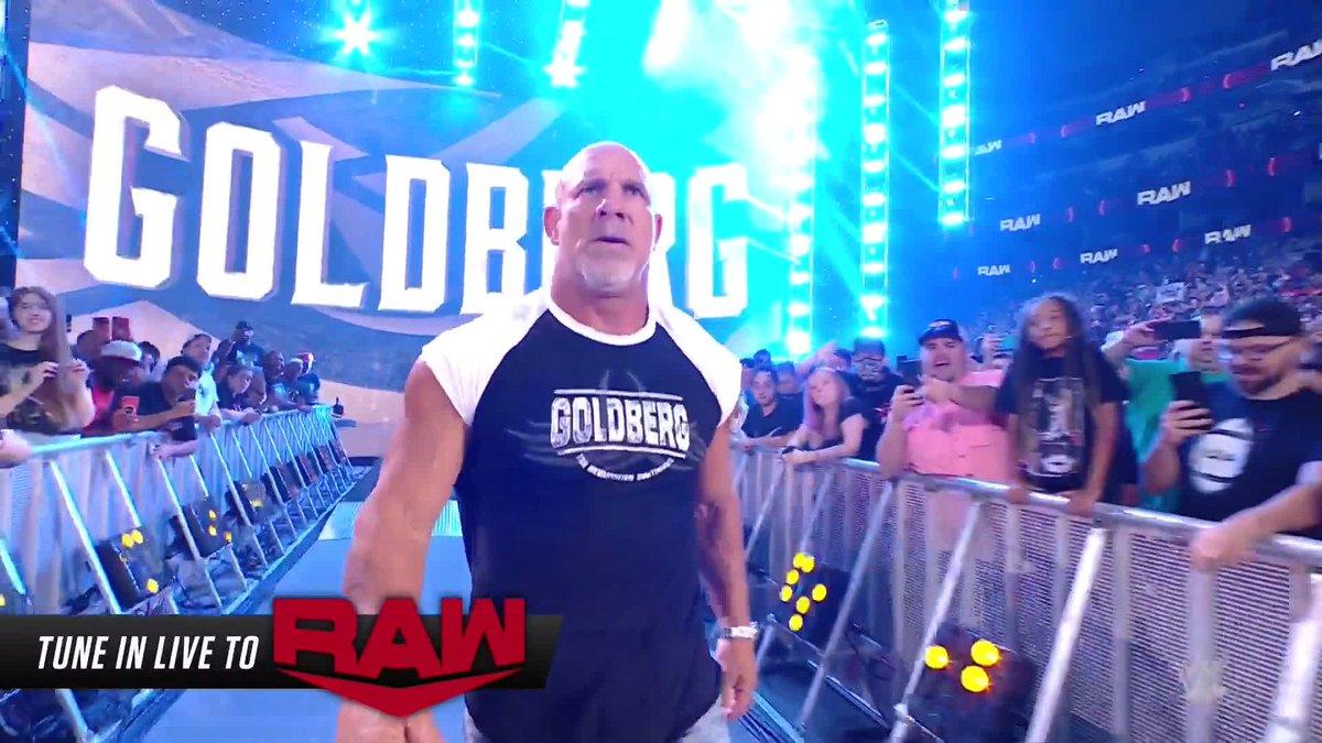 RT @BRWrestling: GOLDBERG MAKES HIS RETURN 😳  (via @WWE) https://t.co/9OfbXQnaRE