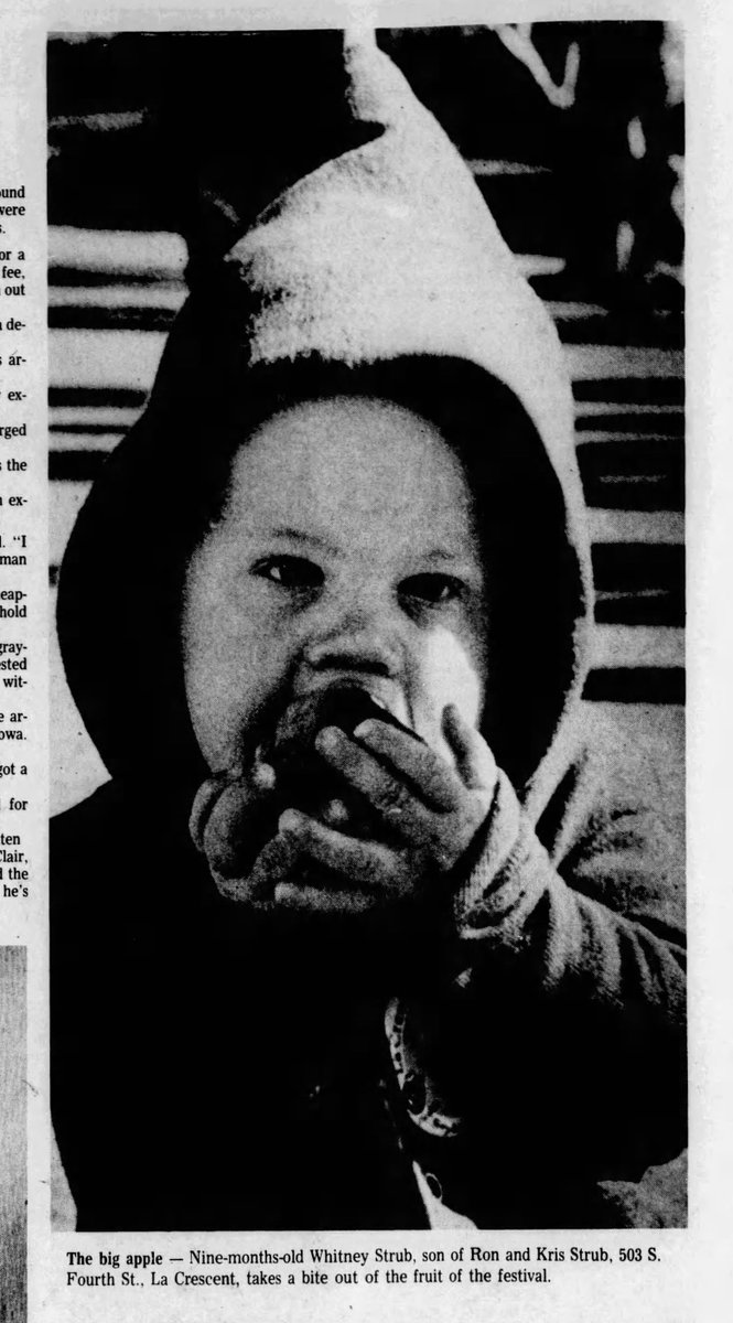 made the mistake of looking myself up & a bit humbling--eating an apple at 9 months old in the LaCrescent, MN Applefest, running the 4x100 relay in high school . . . but also keeping up the family tradition a little, arrested protesting ICE. I'm sure great-uncle'd be proud! https://t.co/g97ant2Uf1