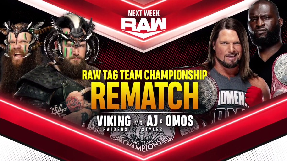 Tag Team Titles Match Announced For Next Week's RAW