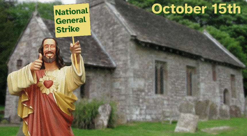 BREAKING NEWS:  CNN confirms Jesus will not cross picket line on October 15th https://t.co/0NWMUUWZc9