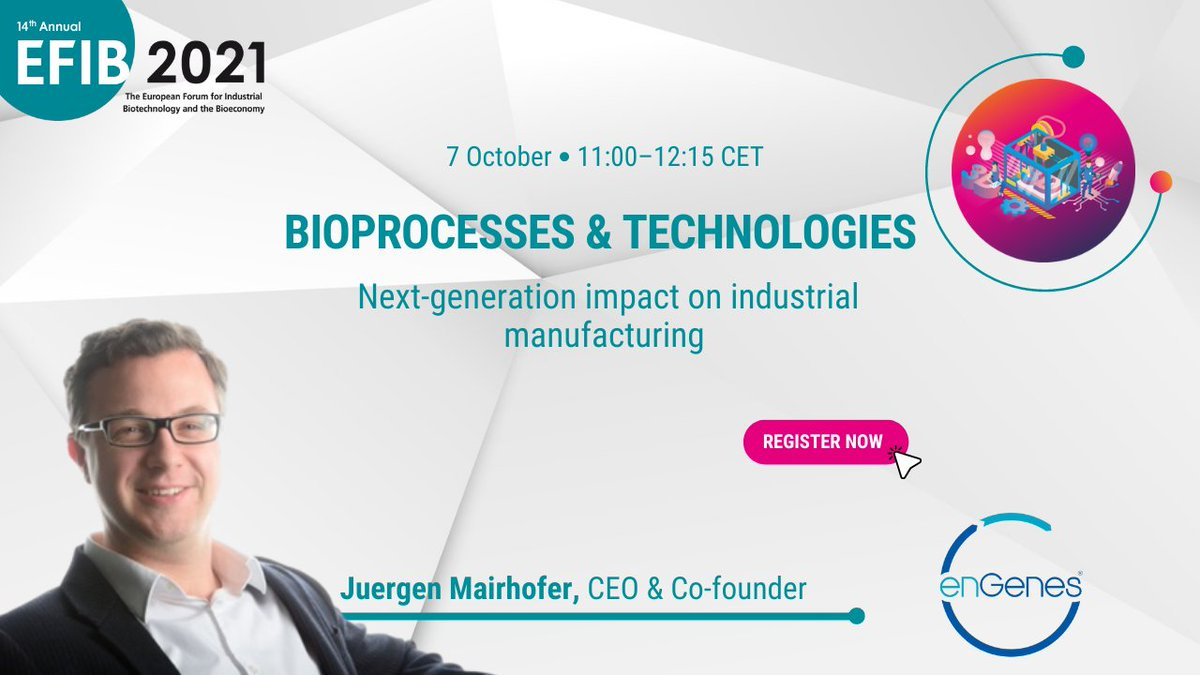 test Twitter Media - A warm welcome to another great speaker, Juergen Mairhofer, CEO and Co-founder of @enGenesBiotech! He is joining us for the session on #Bioprocesses: Next-generation impact on #industrial #manufacturing.   😉You don't want to miss it, so register now: https://t.co/W4iQM3b25f https://t.co/zY4jlGJezM