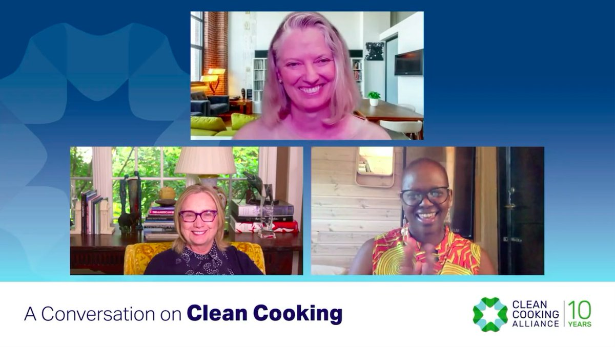 I was honored to join @HillaryClinton and @MathaiWanjira to discuss how far we've come in expanding access to #cleancooking. Let's keep the momentum going as we work toward our global goals on #energy, #climate, and women's #empowerment!  #CCA10 https://t.co/b3UothxiXj